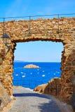 Castillo de Tossa de Mar en Costa Brava de Cataluña Fotografía de archivo libre de regalías