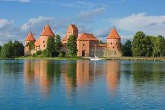 Castillo de Tracai, Lituania Fotos de archivo