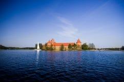 Castillo de Trakai Fotos de archivo libres de regalías