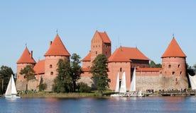 Castillo de Trakai Imagenes de archivo