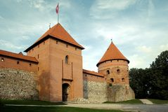 Castillo de Trakai cerca de Vilnius Foto de archivo libre de regalías