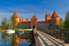Castillo de Trakai en Lituania fotografía de archivo