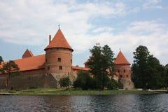 Castillo de Trakai en Lituania. Imagen de archivo libre de regalías