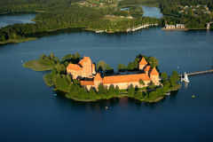Castillo de Trakai en Lituania Fotografía de archivo libre de regalías