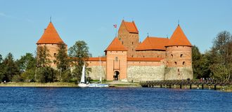 Castillo de Trakai, Lituania Fotografía de archivo
