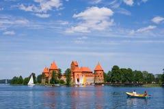Castillo de Trakai, Lituania Imagen de archivo libre de regalías
