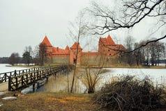 Castillo de Trakai, Lituania Imagenes de archivo