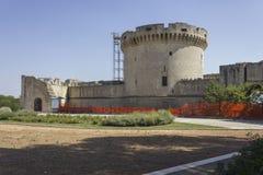 Castillo de Tramontano en Matera, bajo trabajos de renovación Fotos de archivo libres de regalías