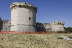 Castillo de Tramontano en Matera, bajo trabajos de renovación Imagen de archivo
