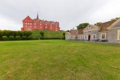 Castillo de Tranekær Imágenes de archivo libres de regalías