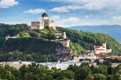 Castillo de Trencin, Eslovaquia fotos de archivo