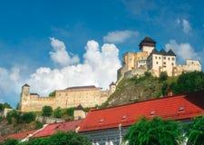 Castillo de Trencin, Eslovaquia Foto de archivo libre de regalías