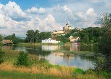 Castillo de Trencin, Eslovaquia Imagen de archivo libre de regalías