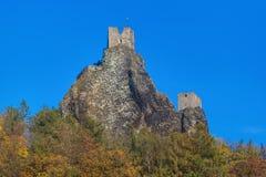 Castillo de Trosky en el paraíso de Bohemia - República Checa fotografía de archivo libre de regalías