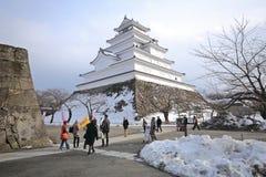Castillo de Tsuruga, Japón Imágenes de archivo libres de regalías