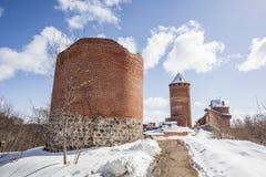 Castillo de Turaida en Sigulda, Letonia imagenes de archivo