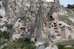 Castillo de Uchisar en Cappadocia, Imagen de archivo libre de regalías