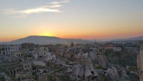 Castillo de Uchisar en el cappadocia Foto de archivo