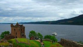 Castillo de Urquhart almacen de metraje de vídeo