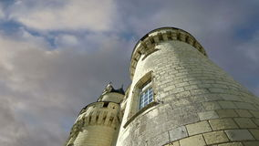 Castillo de Usse, el valle del Loira, Francia --también conocido como castillo del ` s de la bella durmiente almacen de metraje de vídeo