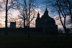 Castillo de Vadstena en el sol abajo Fotografía de archivo libre de regalías