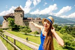 Castillo de Vaduz en Liechtenstein Fotos de archivo