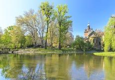 Castillo de Vajdahunyad en Budapest Foto de archivo libre de regalías