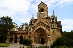 Castillo de Vajdahunyad en el parque de la ciudad de Budapest, Hungr?a fotos de archivo libres de regalías