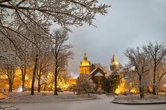 Castillo de Vajdahunyad en la noche foto de archivo libre de regalías