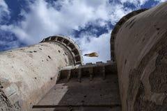 Castillo-De Valencia de Don Juan Stockbild