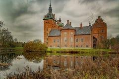 Castillo de Vallo con la reflexión imágenes de archivo libres de regalías