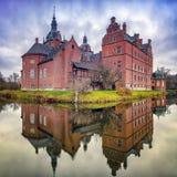Castillo de Vallo en Dinamarca imagenes de archivo