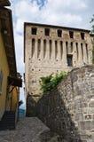 Castillo de Varano de Melegari. Emilia-Romagna. Italia. Foto de archivo libre de regalías