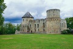 Castillo de Venden Ciudad de Cesis, Letonia Imágenes de archivo libres de regalías