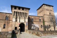 Castillo de Visconti, Pandino, Italia fotos de archivo