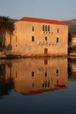 Castillo de Vituri en la puesta del sol Imágenes de archivo libres de regalías