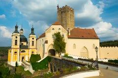 Castillo de Vranov nad Dyji foto de archivo libre de regalías