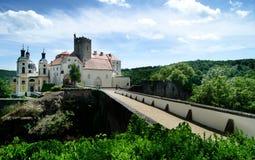 Castillo de Vranov nad Dyji, República Checa Foto de archivo libre de regalías