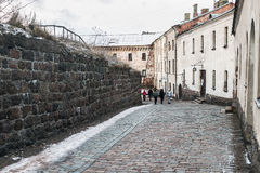 Castillo de Vyborg en una mañana del invierno Imagen de archivo libre de regalías