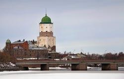 Castillo de Vyborg. Rusia fotografía de archivo