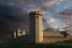 Castillo de Warwick en el ocaso Fotografía de archivo