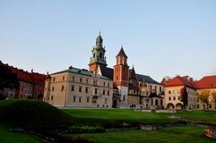 Castillo de Wawel en Cracovia Fotografía de archivo