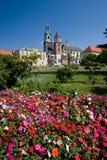 Castillo de Wawel en Kraków, Polonia Imagen de archivo libre de regalías
