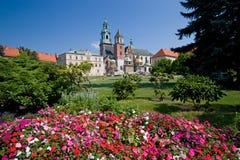 Castillo de Wawel en Kraków, Polonia Fotografía de archivo