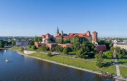 Castillo de Wawel Zamek en Kraków, Polonia Imagen de archivo