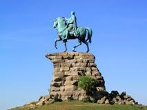 Castillo de Windsor de la estatua del ?caballo de cobre? de George III Imagen de archivo libre de regalías