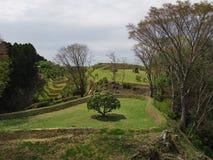 Castillo de Yamanaka de las ruinas Imagen de archivo libre de regalías