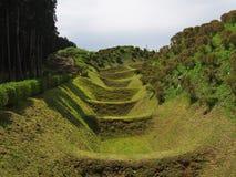 Castillo de Yamanaka de las ruinas Foto de archivo