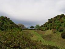 Castillo de Yamanaka de las ruinas Imagen de archivo