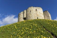 Castillo de York Foto de archivo libre de regalías